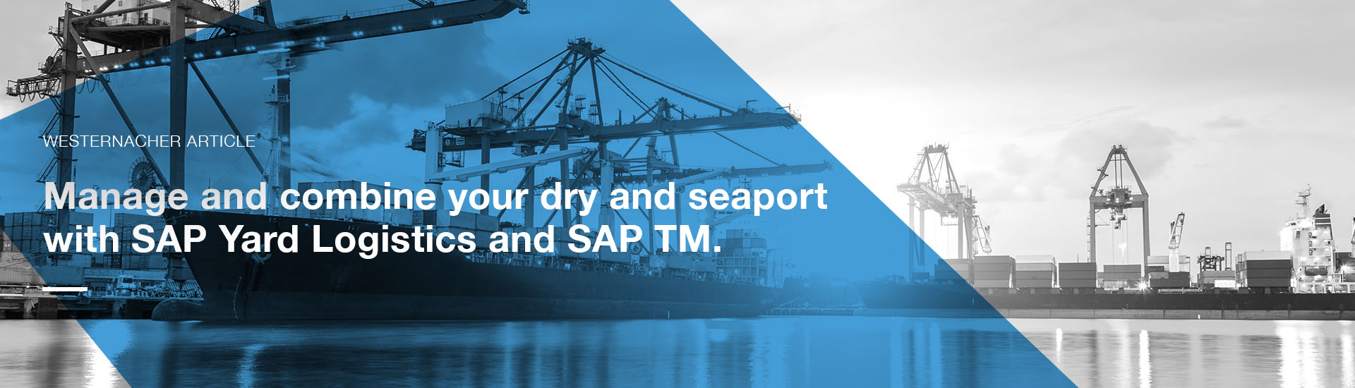 Manage and combine your dry and seaport with SAP Yard Logistics and SAP TM | westernacher-consulting.com