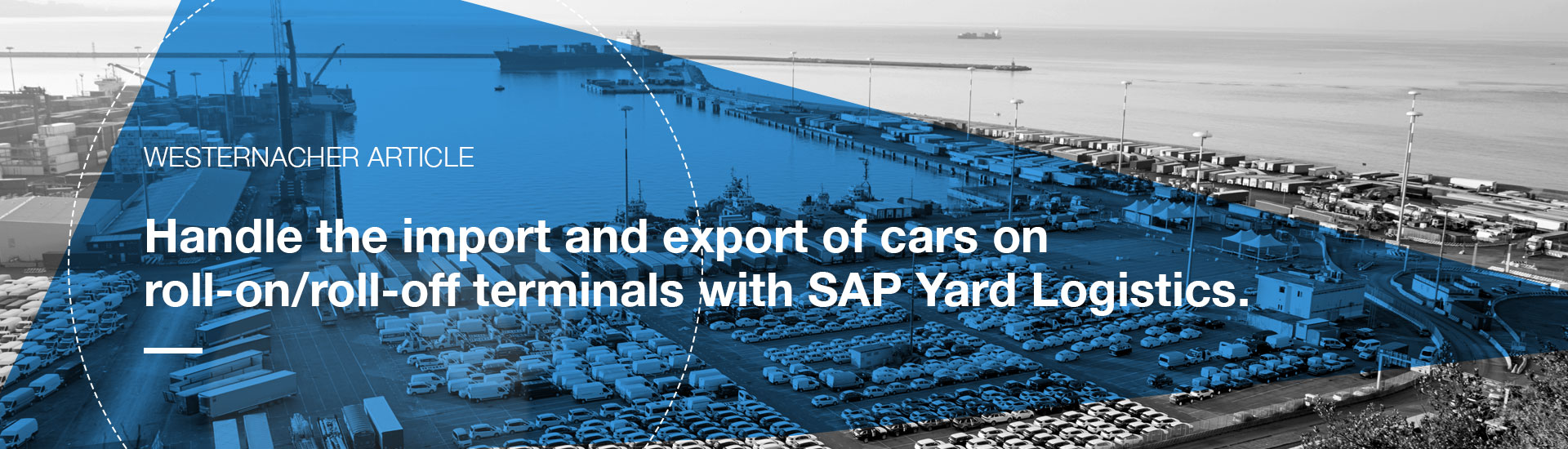 Car Yard – Handle the import and export of cars on roll-on/roll-off terminals with SAP Yard Logistics | westernacher-consulting.com