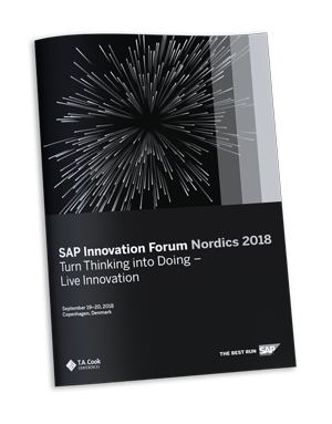 Westernacher digital supply chain experts at SAP Innovation Forum Nordics 2018 Agenda Brochure