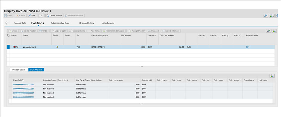 Invoice Verification Tool for Transportation Management SAP TM AddOn