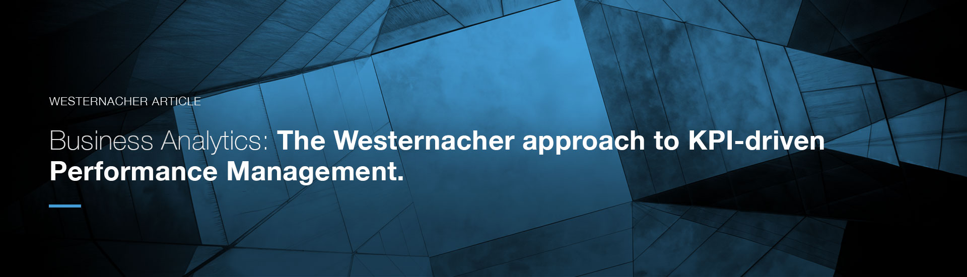 The Westernacher approach to KPI-driven Performance Management | westernacher-consulting.com