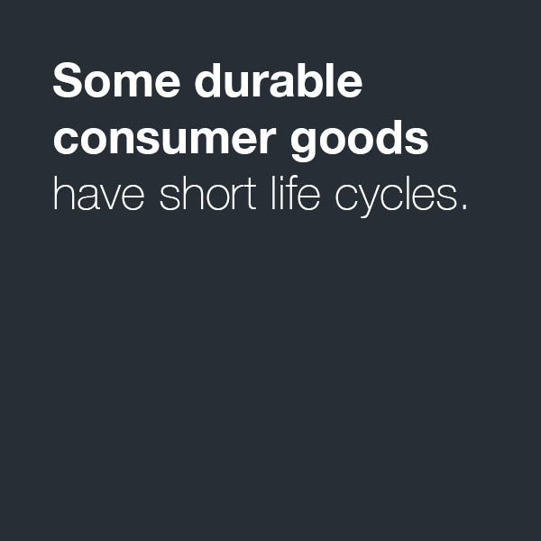 Consumer Goods with Westernacher Consulting: Some durable consumer goods have short life cycles.