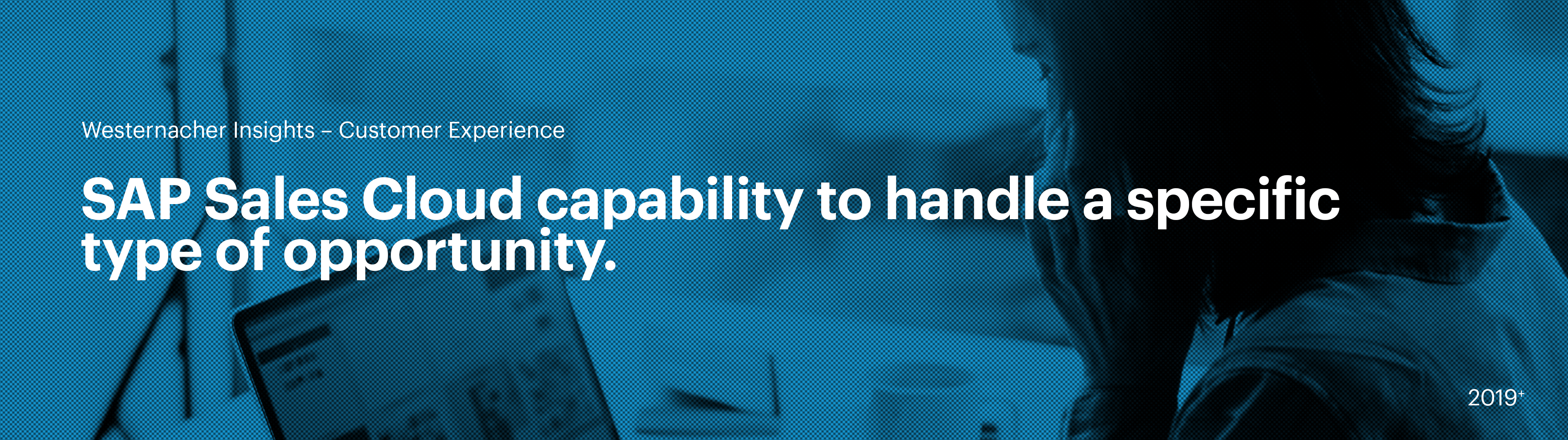 SAP Sales Cloud capability to handle a specific type of opportunity. | westernacher-consulting.com