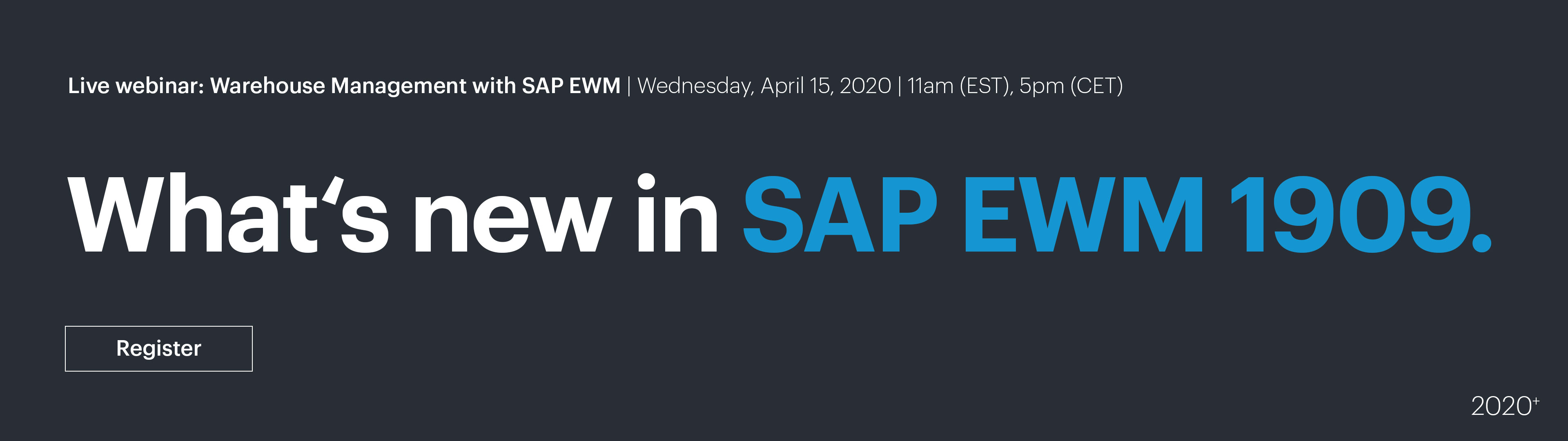 Live Webinar: Warehouse Management with SAP EWM | westernacher-consulting.com